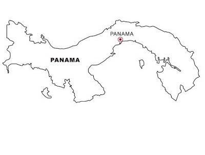 Dibujo Views  Mapa De Panamá Para Colorear
