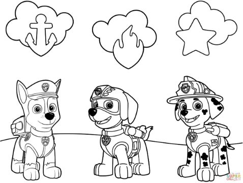5 Personajes De La Patrulla Canina Para Colorear