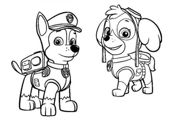 Dibujos De Paw Patrol (la Patrulla Canina) Para Colorear