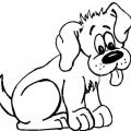 Figura De Perro Para Colorear