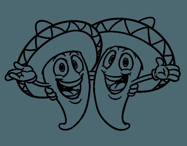 Comida Tipica Mexicana Para Colorear