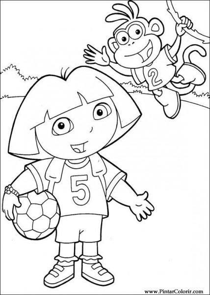 Dorable Dora Gratis Para Colorear Friso