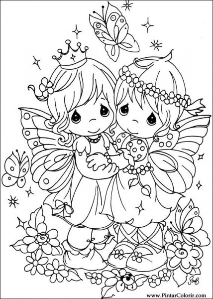 Dibujos Para Pintar Y Color Precious Moments