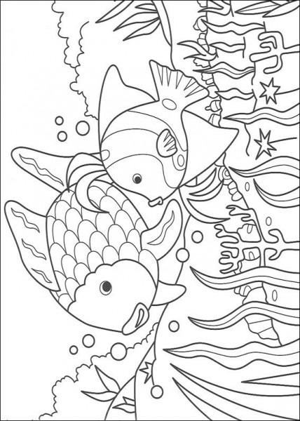 Dibujos Para Pintar Y Color El Pez Arco Iris