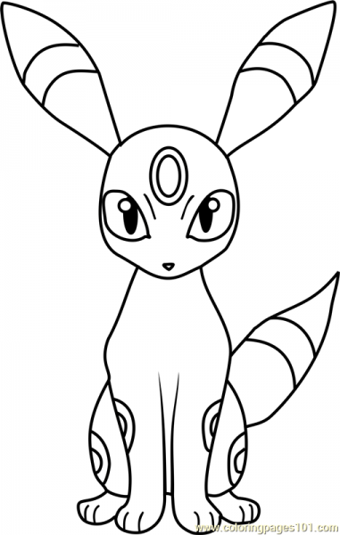 Pokemon Coloring Pages Umbreon At Getdrawings Com