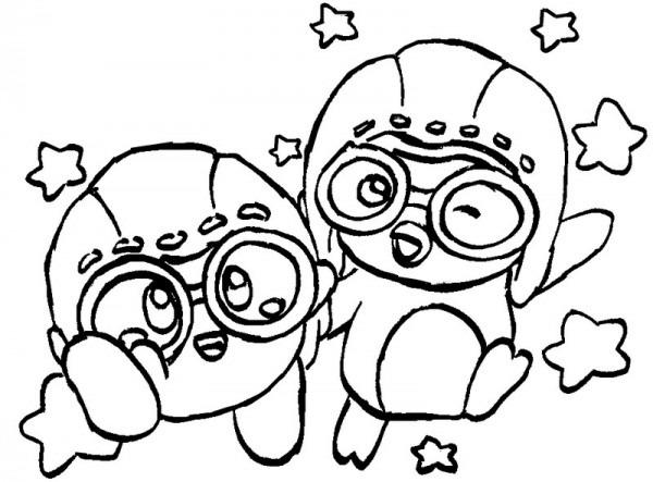 Dibujo Para Colorear Pororo   Pororo Y Kirby 3