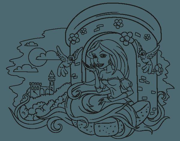 Dibujo De Princesa Rapunzel Para Colorear