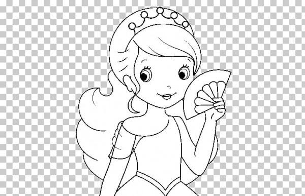Princesa Para Colorear Canción De Cuna Libro Para Colorear