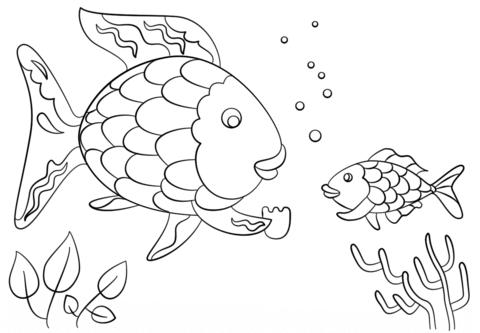 Dibujo De Pez Arcoiris Da Una Preciosa Escama A Un Pececito Para