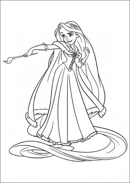 Colorear Rapunzel De Enredados Dibujos De Rapunzel Para Colorear