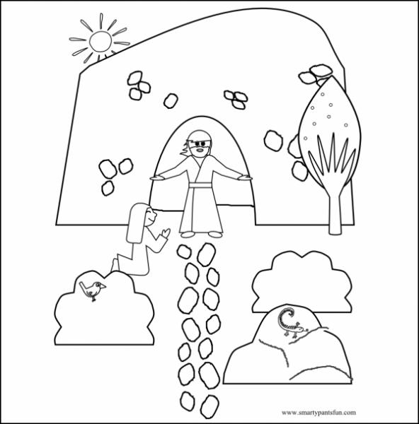 Jesús Resucitó Para Imprimir Y Pintar ¡feliz Pascua!