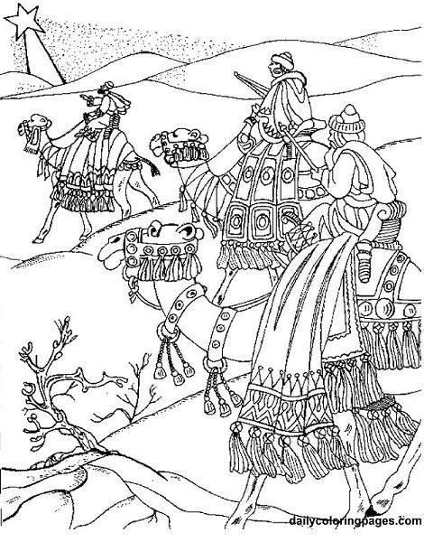Cabalgata De Reyes Para Colorear