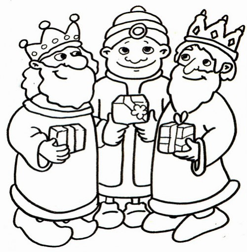 Dibujos De Los Reyes Magos Para Pintar