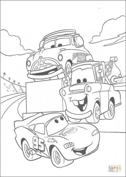 Dibujo De Mate Y Mcqueen Para Colorear