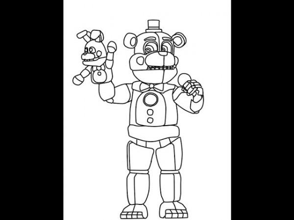 Funtime Freddy Para Colorear Xd