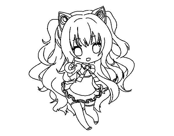 √ Dibujo De Seeu Chibi Vocaloid Para Colorear