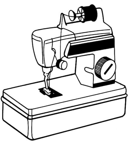 Dibujo De Máquina De Coser Para Colorear