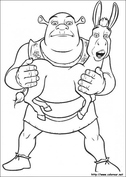 Dibujos De Shrek Para Colorear En Colorear Net