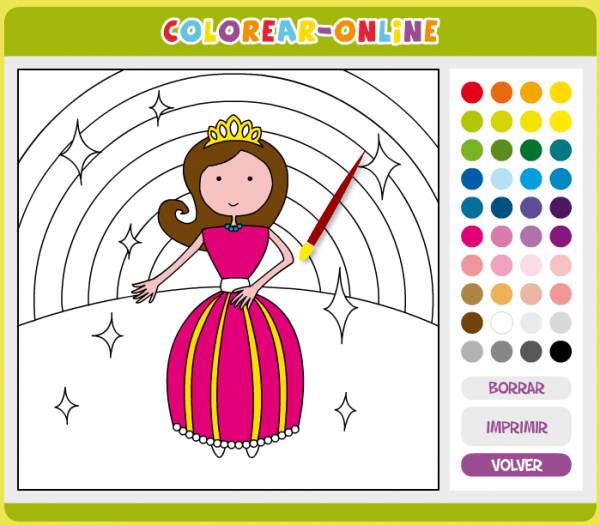 Recursos Tic Educación Infantil  Juegos Para Colorear Online