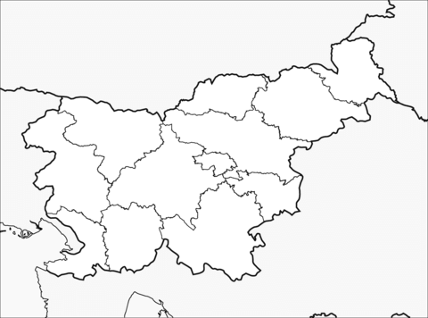 Dibujo De Mapa De Eslovenia Para Colorear