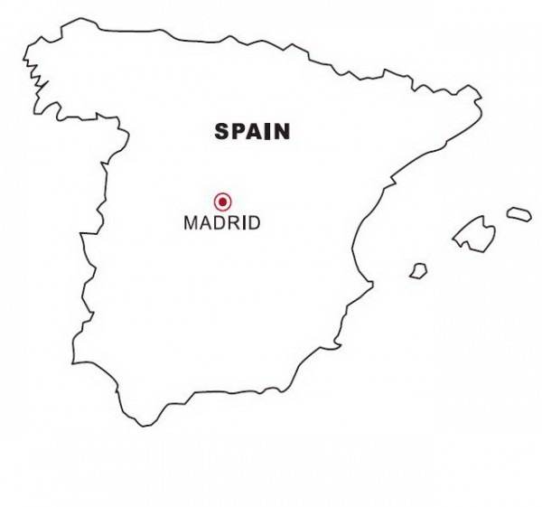 Dibujo Views  Mapa De España Para Colorear