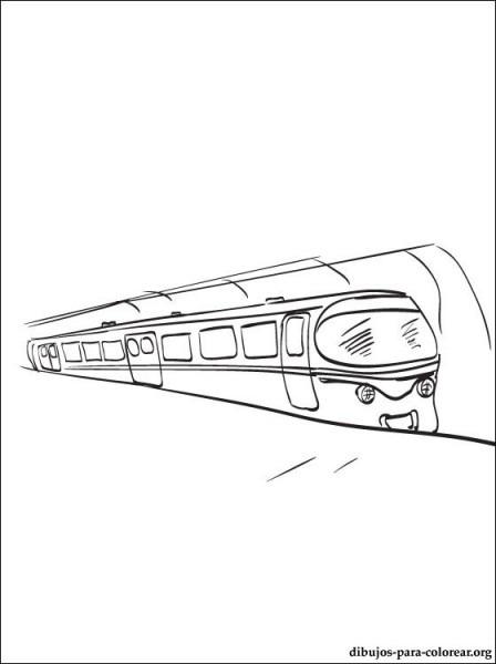 Dibujo De Metro Para Pintar