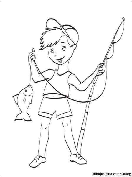 Dibujo De Pesca Para Colorear