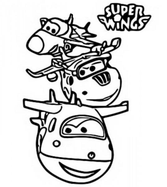 Dibujo Para Colorear Super Wings 2
