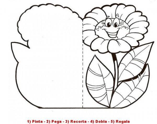 Tarjeta Para Colorear Y Recortar En Manualidades Infantiles Para Niños