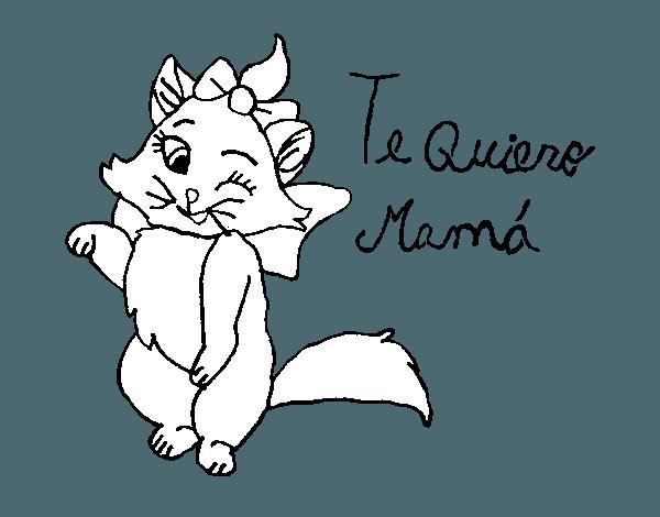 Dibujo De Te Quiero Mamá Para Colorear