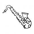 Dibujos De Saxofon Para Colorear