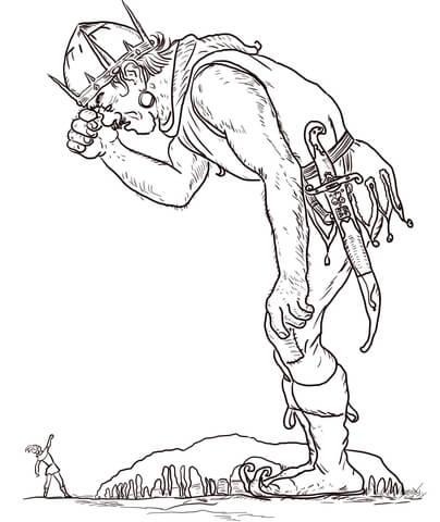 Dibujo De Juanito Y El Gigante Para Colorear