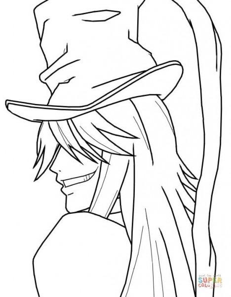 Dibujo De Undertaker De Kuroshitsuji Para Colorear