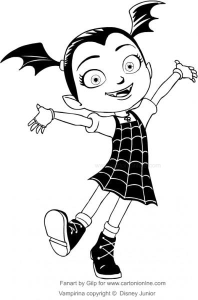 Dibujo De Vampirina Para Colorear