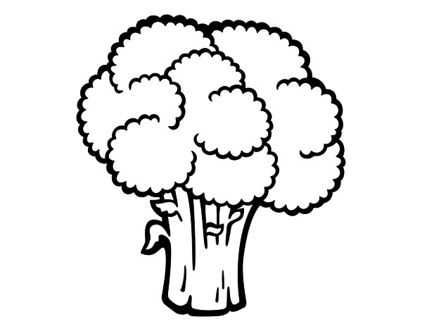 Dibujo De Verdura De Brócoli Para Colorear