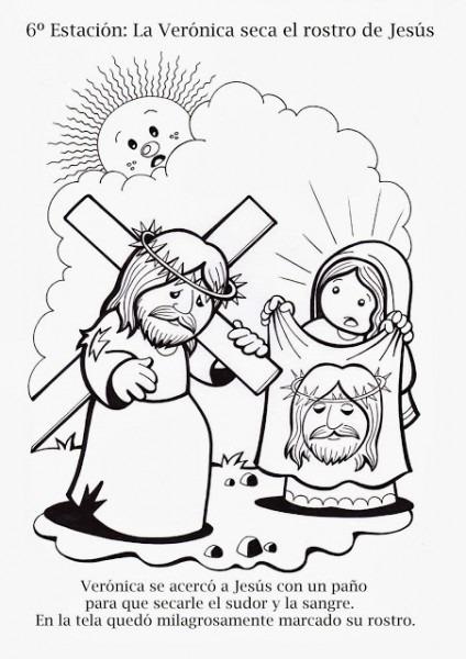 √ Parroquia La Inmaculada  Viacrucis Para Nios  Colorear Y