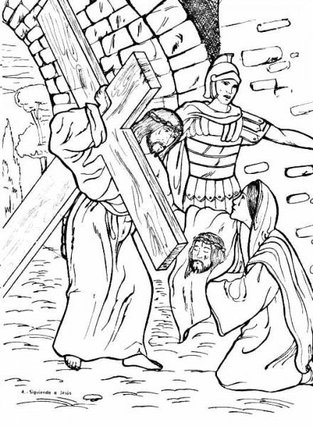 Dibujos Católicos   Verónica Limpia El Rostro De Jesús Para Colorear