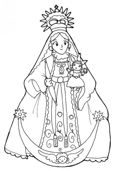 Dibujos Para Colorear De La Virgen Del Rocio