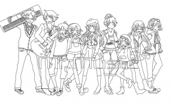 Vocaloid Dibujos Para Colorear