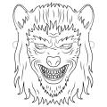 Mascaras De Lobos Para Colorear