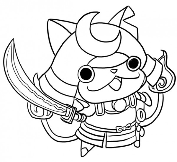 Youkai Watch Coloring Pages At Getdrawings Com
