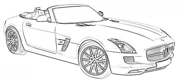 Mercedes Benz Sport Coloring Page