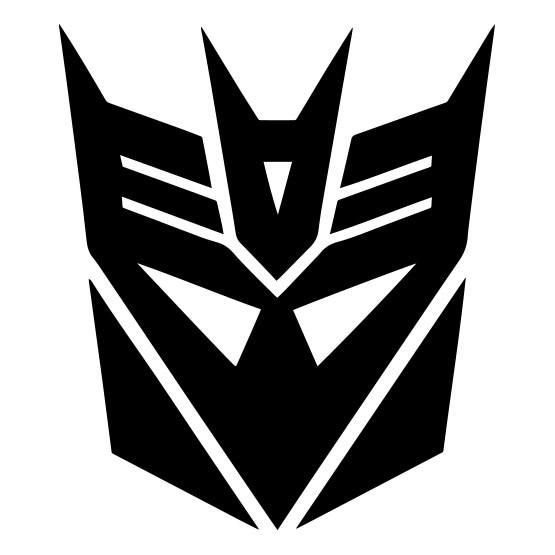 Transformers Decepticon Megatron Logo Vinyl Decal Sticker Car