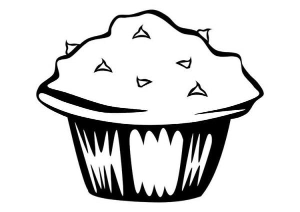 Dibujo Para Colorear Muffin