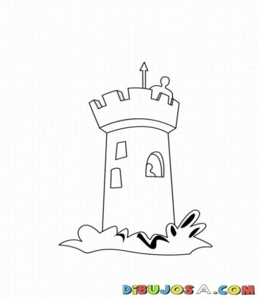 Colorear La Torre Del Castillo