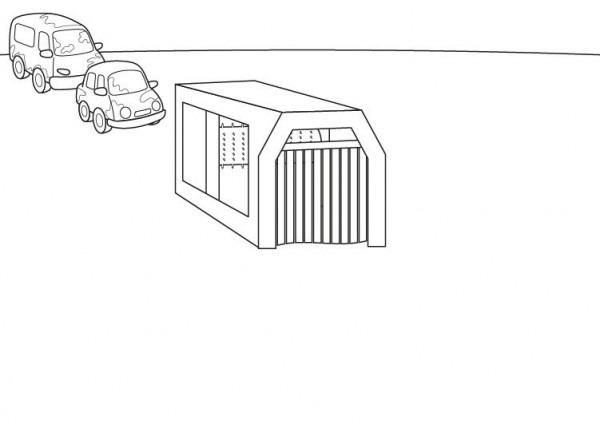 Túnel De Lavado De Coches  Dibujo Para Colorear E Imprimir