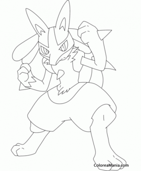 Colorear Lucario  Generation Iv Pokemon (pokemon), Dibujo Para