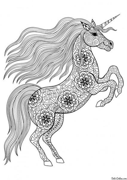Mandalas De Unicornios Para Pintar E Imprimir
