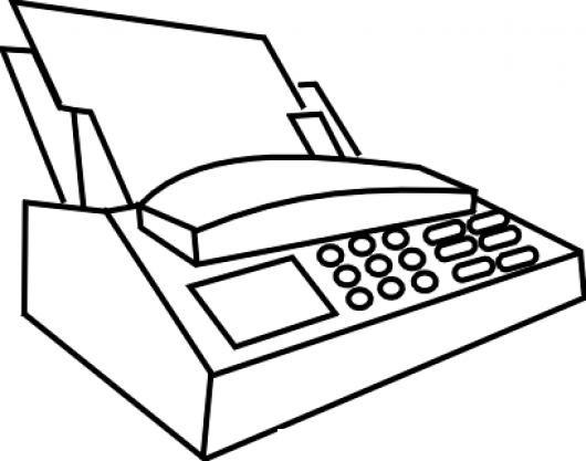 Maquina De Fax Para Pintar Y Colorear Dibujo De Un Fax
