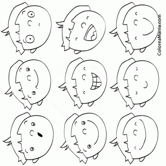 Colorear Expresiones De Un Niño (expresión Y Lenguaje), Dibujo